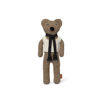 Decoration - Children's Home Accessories - Teddy Roy Cuddly toy - / Knitted Merino wool - H 43 cm by Ferm Living - Brown-beige - Merinos wool, Recycled polyester