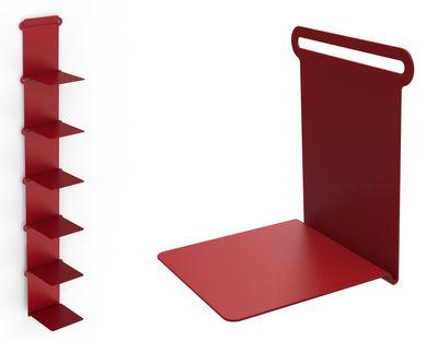 Mobilier - Etagères & bibliothèques - Etagère Knick / Range-livres - L 15 cm - Matière Grise - Rouge - Métal