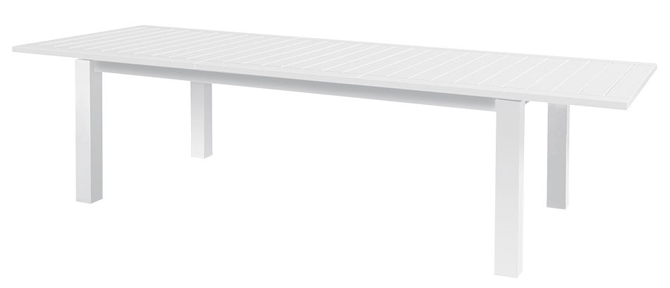 Outdoor - Garden Tables - Monte Carlo Extending table - / L 220 to 320 cm by Vlaemynck - White - Lacquered aluminium