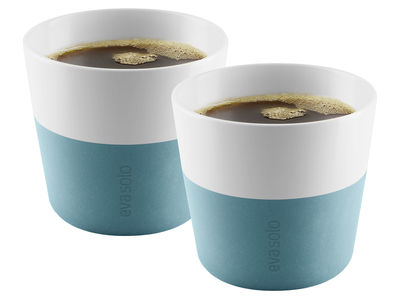 Gobelet Lungo Lungo / Set de 2 - 230 ml - Eva Solo blanc,bleu arctique en céramique