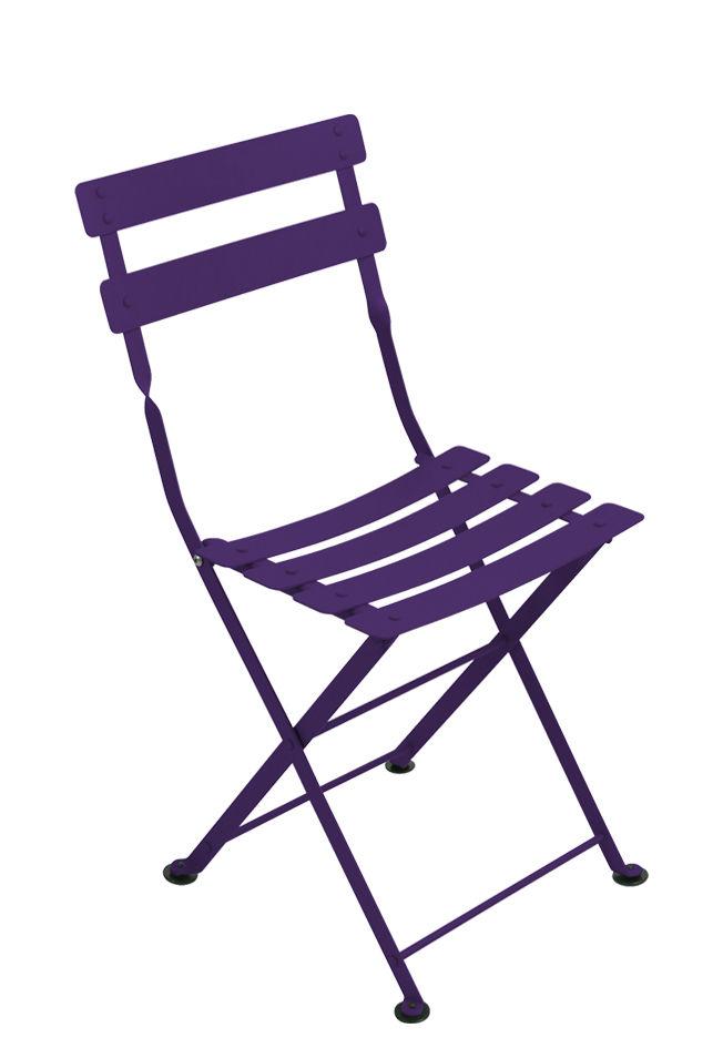 Möbel - Möbel für Kinder - Tom Pouce Kinderstuhl / Stahl - Fermob - Aubergine - bemalter Stahl