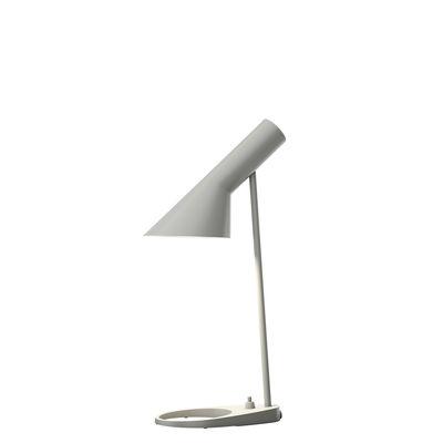 Illuminazione - Lampade da tavolo - Lampada da tavolo AJ Mini - (1960) / H 43 cm di Louis Poulsen - Grgio Originale - Acciaio, Zinco