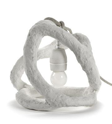 Illuminazione - Lampade da tavolo - Lampada da tavolo Sculpture - / Gesso modellato a mano di Serax - Bianco - Gesso