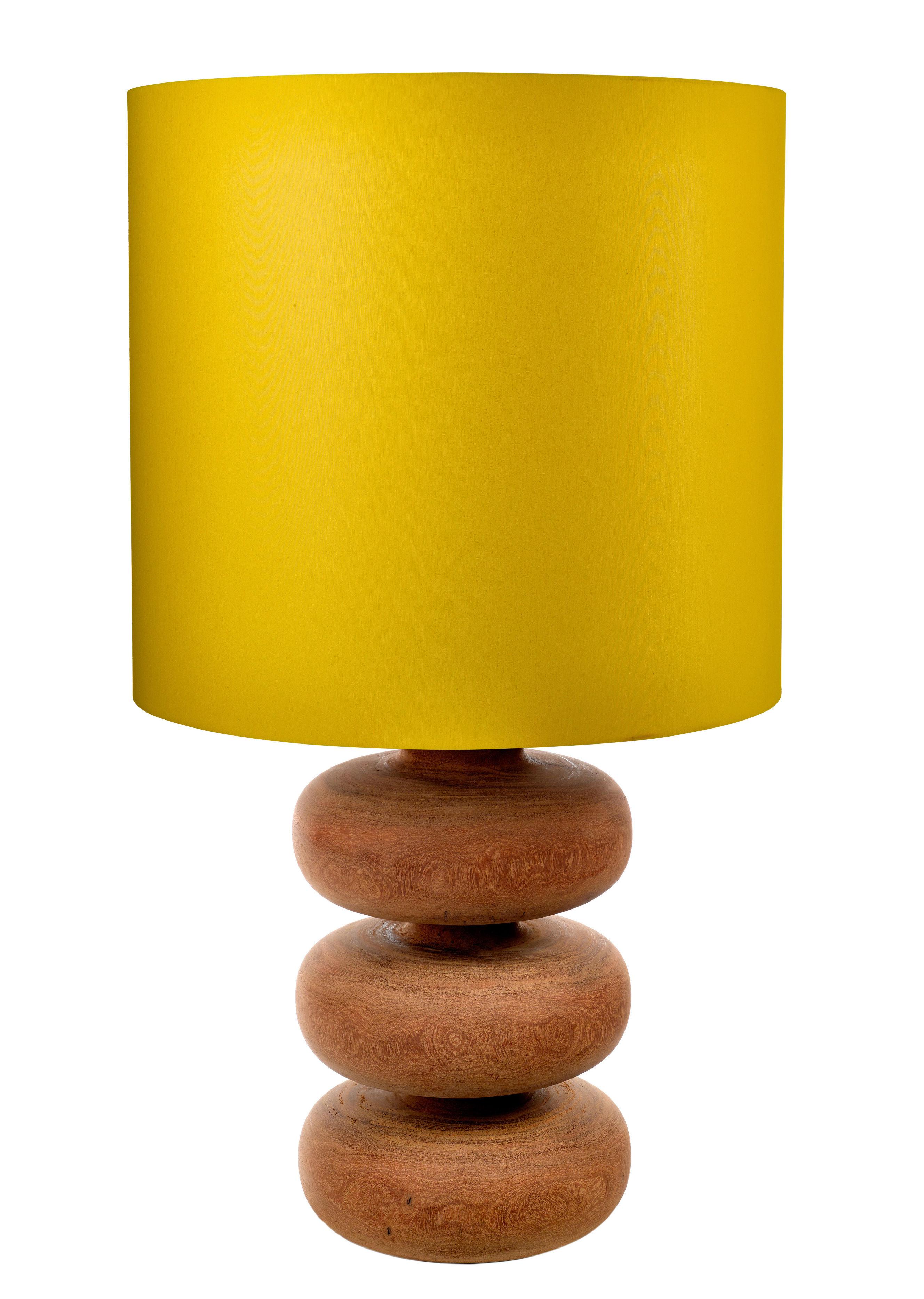 Lampe A Poser Tree Times Pols Potten Bois Abat Jour Jaune H 50