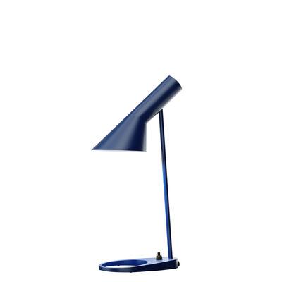 Lampe de table AJ Mini (1960) / H 43 cm - Louis Poulsen bleu nuit en métal