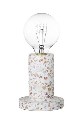 Lampe de table / Terrazzo - Bloomingville blanc,multicolore en pierre