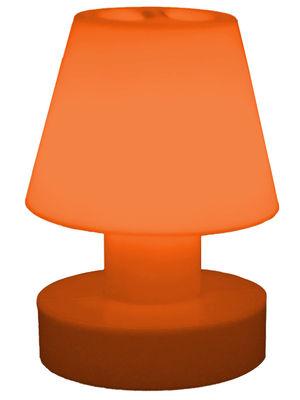 Luminaire - Lampes de table - Lampe sans fil / Rechargeable - H 28 cm - Bloom! - Orange - Polyéthylène