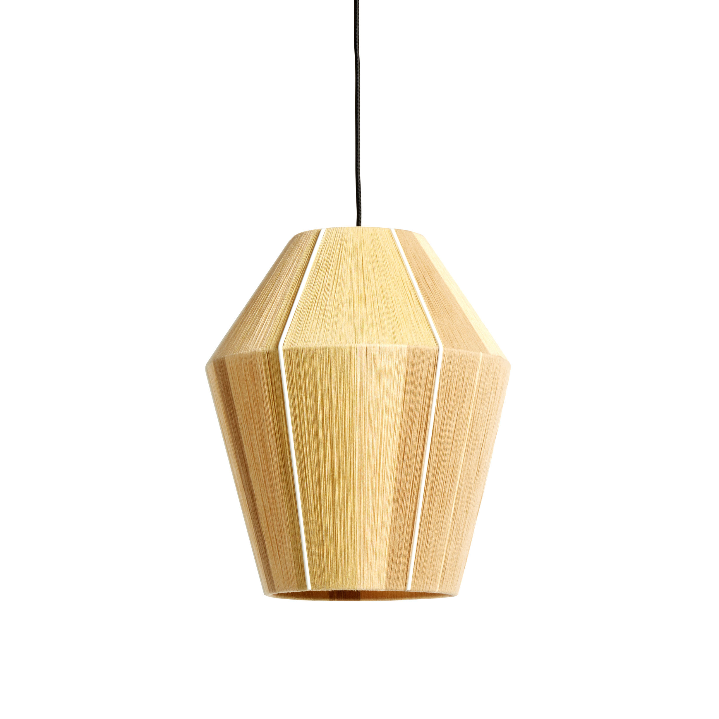 Lighting - Pendant Lighting - Bonbon Small Lampshade - / Ø 32 - Hand-woven wool by Hay - Small / Yellow - Nylon, Steel, Wool