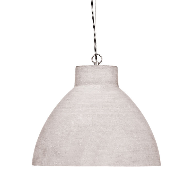 Lighting - Pendant Lighting - Cordoba Pendant - / Polystone - Ø 43 cm by It's about Romi - Light grey - Polystone
