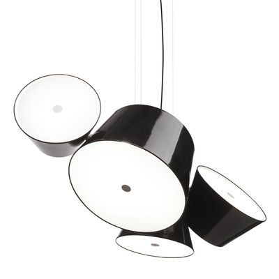 Lighting - Pendant Lighting - Tam Tam 3 Pendant by Marset - Black - Lacquered aluminium, Methacrylate