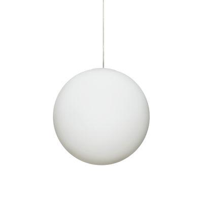 Leuchten - Pendelleuchten - Luna Pendelleuchte / Ø 40 cm - Glas - Design House Stockholm - Kugel / Weiß - mundgeblasenes Glas
