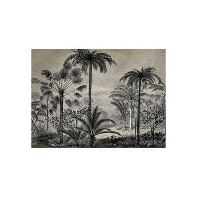 Tableware - Napkins & Tablecloths - Tresors Placemat - / Vinyl by Beaumont - Palmiers no. 1 / Black & White - Vinal