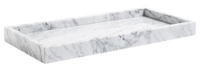 Accessoires - Accessoires bureau - Plateau Marble Tray Large / 54 x 25 cm - Marbre - Hay - Blanc / Veiné gris - Marbre de Carrare