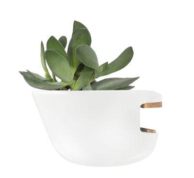 Déco - Pots et plantes - Pot de fleurs Hoï / Pour étagères et bibliothèques - Supercraft - Taille S / Blanc - Porcelaine