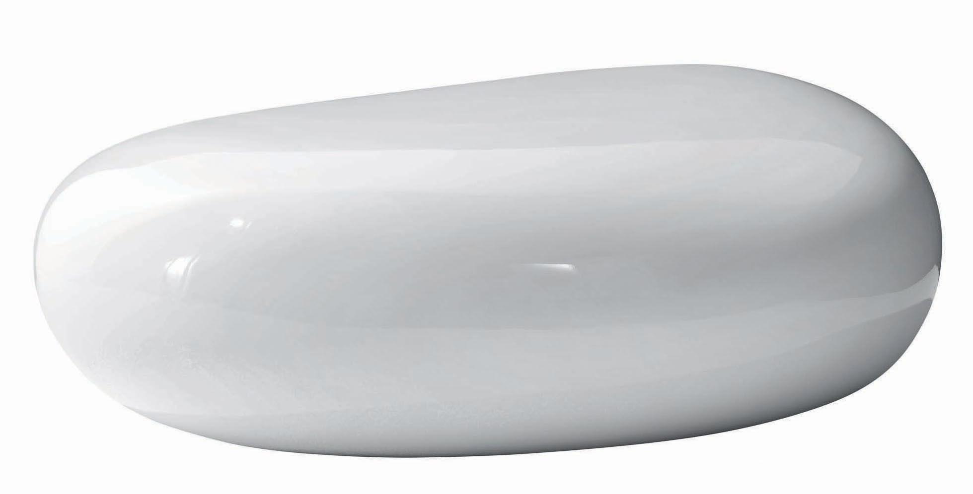 Arredamento - Tavolini  - Pouf Koishi di Driade - Bianco - Fibra di vetro