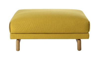 Furniture - Poufs & Floor Cushions - Rest Pouf - Pouf by Muuto - Yellow - Hallingdal fabric - Kvadrat fabric, Oak