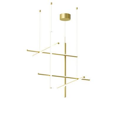 Illuminazione - Lampadari - Sospensione Coordinates S3 - LED / L 78 x H 78 cm di Flos - Champagne anodizzato - alluminio estruso