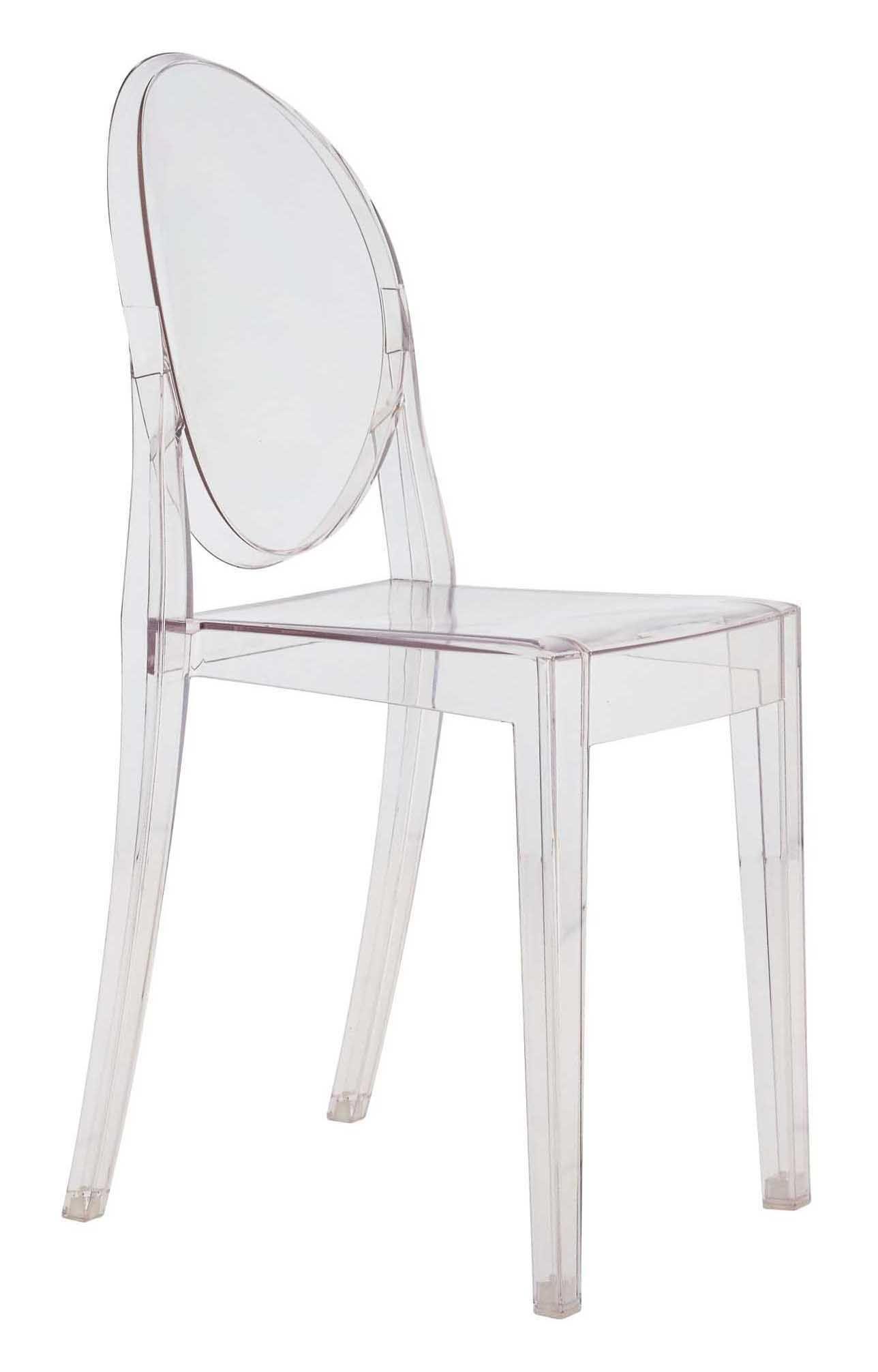 Möbel - Stühle  - Victoria Ghost Stapelbarer Stuhl - Kartell - Kristall - Polykarbonat