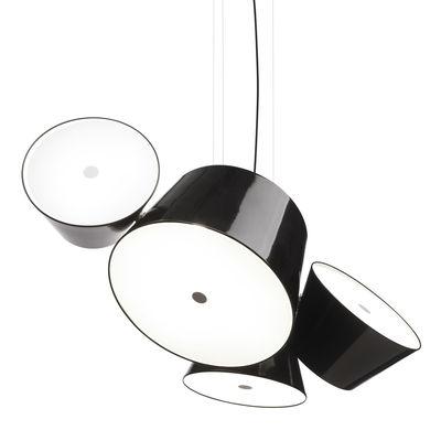 Luminaire - Suspensions - Suspension Tam Tam 3 / 102 x 85 cm - Marset - Noir - Aluminium laqué, Méthacrylate
