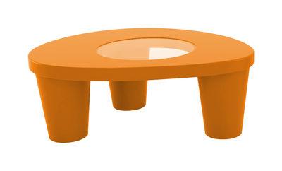 Table basse Low Lita - Slide orange en verre