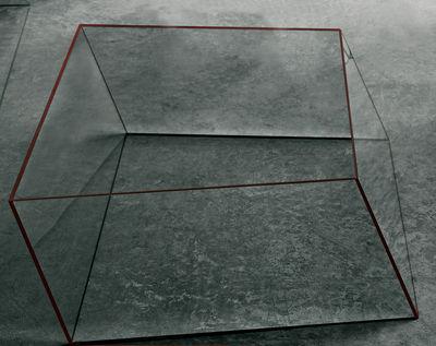 Table basse Wireframe 75 x 87 cm - Glas Italia orange/transparent en verre