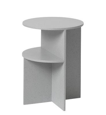 Table d'appoint Halves / 2 plateaux - Pierre acrylique - Muuto gris en matériau composite