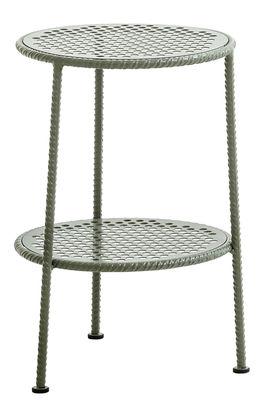 Table d'appoint Work is Over / Métal - Ø 37 cm - Diesel with Moroso gris/métal en métal