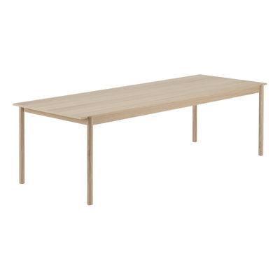 Mobilier - Tables - Table Linear WOOD / Bois 260 x 90 cm - Muuto - Chêne / 260 x 90 cm - Chêne massif, Contreplaqué de chêne
