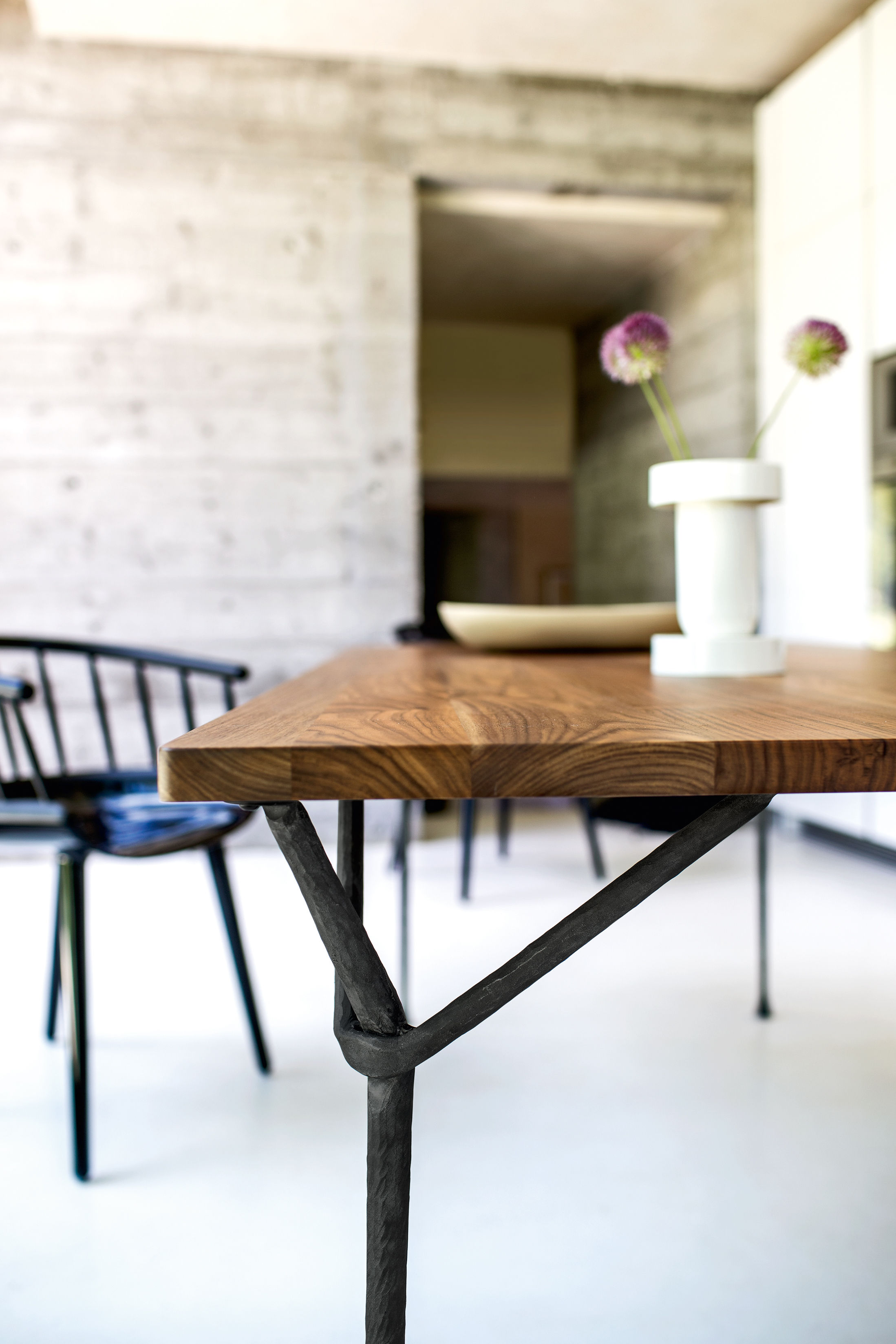Table Officina Outdoor By Magis Wood Top Black Legs