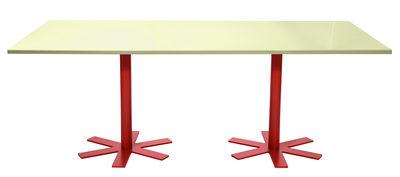 Table rectangulaire Parrot / 200 x 90 cm - Unie - Petite Friture rouge,jaune pastel en métal