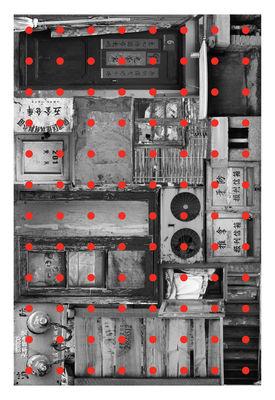 Tapis Remnant 1 / 300 x 200 cm - Moooi Carpets rouge,gris en tissu