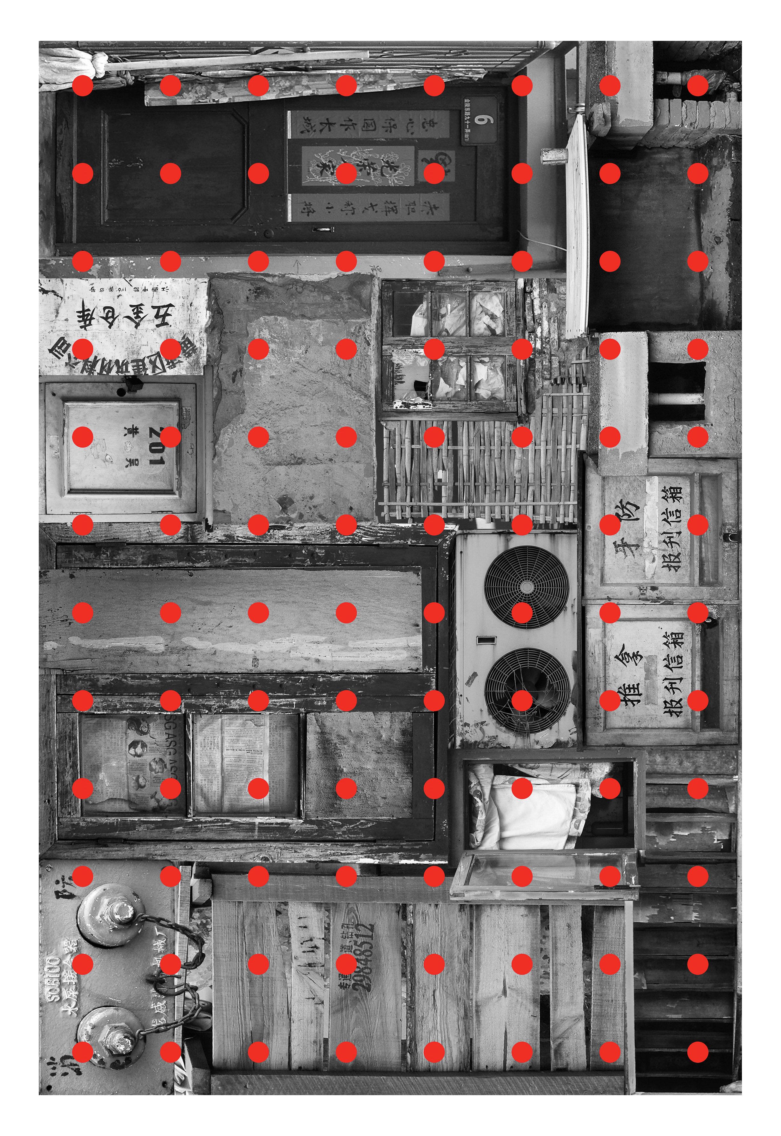 Dekoration - Teppiche - Remnant 1 Teppich / 300 x 200 cm - Moooi Carpets - Rot & grau - Polyamid