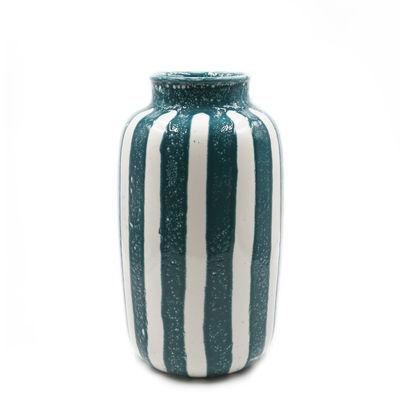 Decoration - Vases - Riviera Large Vase - / H 36 cm by Maison Sarah Lavoine - Sarah blue - Glazed ceramic