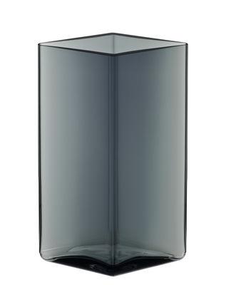Déco - Vases - Vase Ruutu par R. & E. Bouroullec / L 11,5 x H 18 cm - Iittala - Gris orage - Verre soufflé bouche