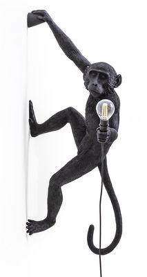 Applique d'extérieur Monkey Hanging / H 76,5 cm - Seletti noir en matière plastique
