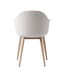 Harbour Armchair - / Fabric - Wooden legs by Menu