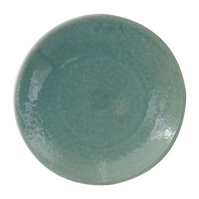 Arts de la table - Assiettes - Assiette de présentation Tourron / Ø 31 cm - Grès fait main - Jars Céramistes - Jade - Grès émaillé
