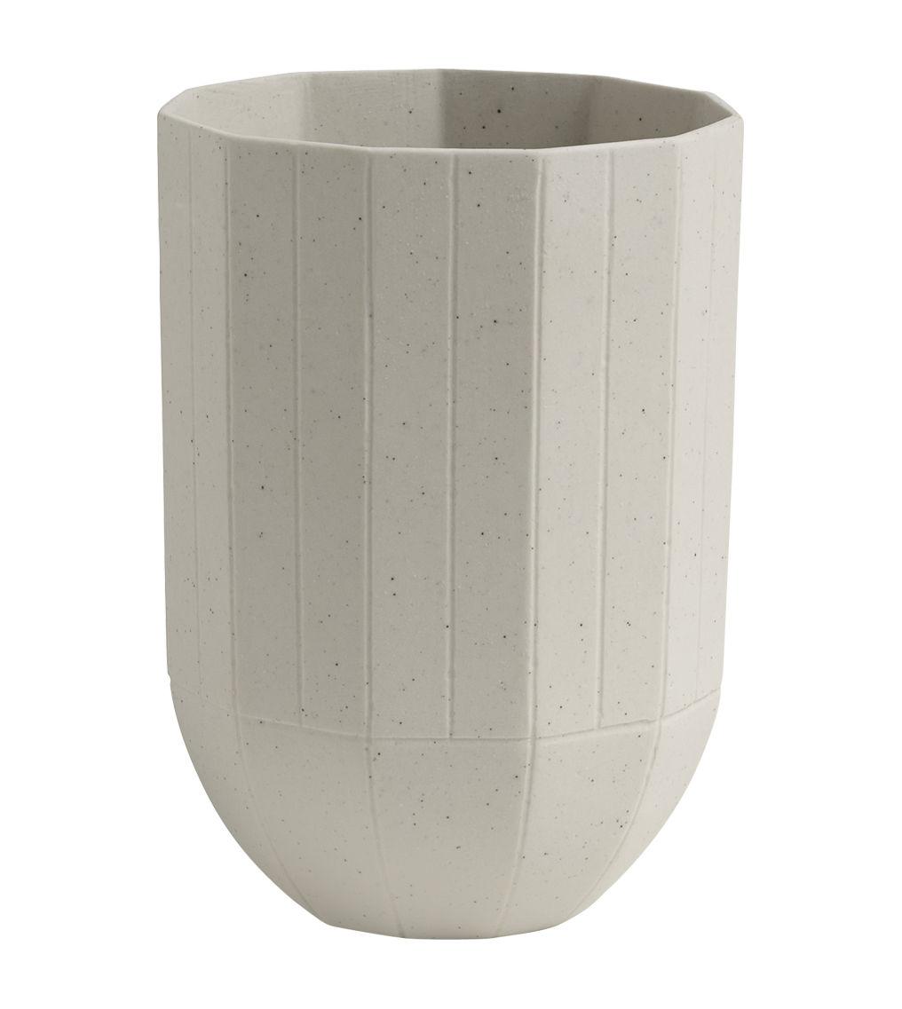 Tischkultur - Tassen und Becher - Paper Porcelain Becher / aus Porzellan - Hay - Hellgrau - Metallpartikel, Porzellan