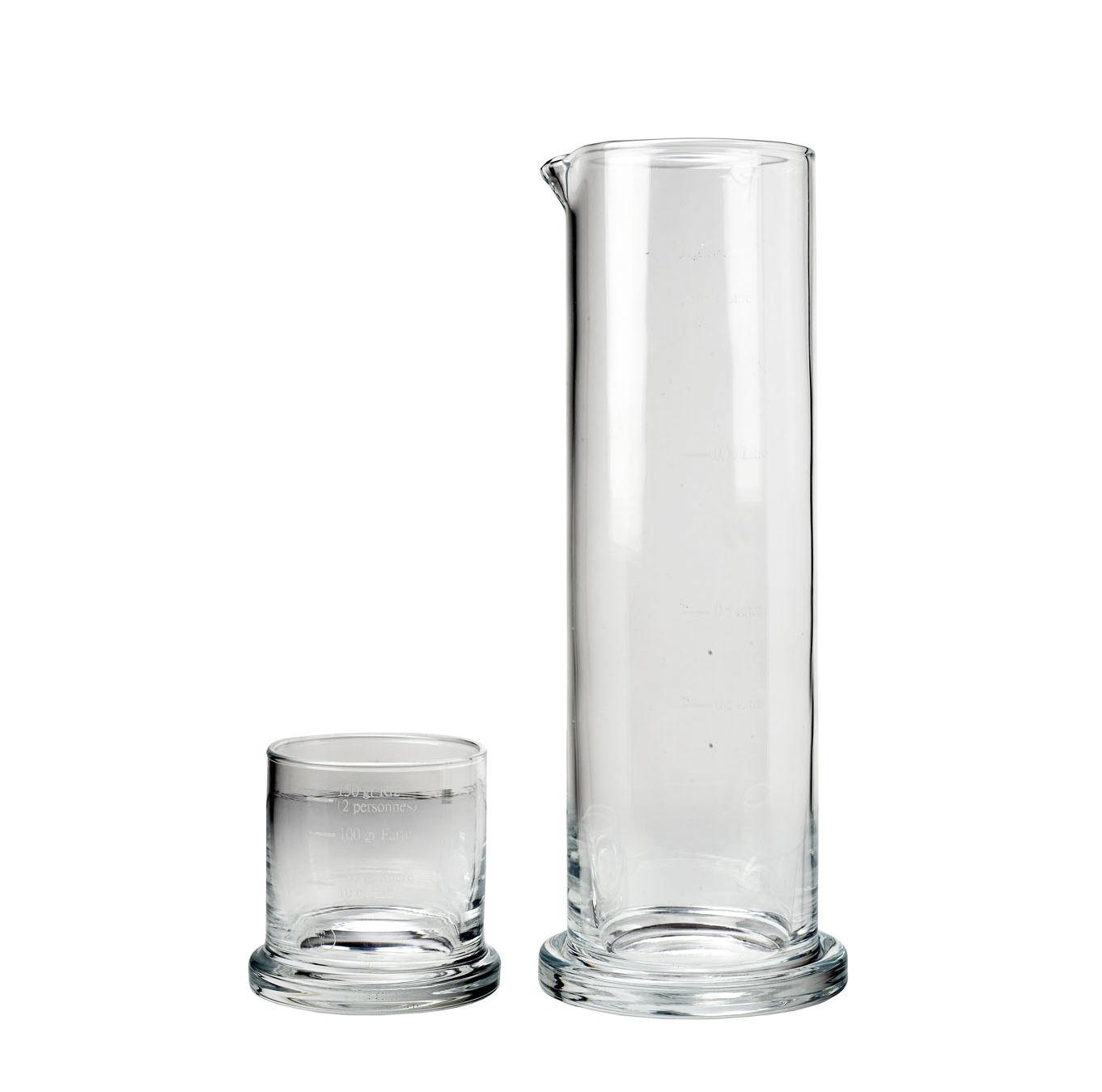 Tavola - Caraffe e Decantatori - Bicchiere dosatore Le Duo - / Bicchiere graduato - Multifunzione di Malle W. Trousseau - Trasparente - Vetro soffiato a bocca