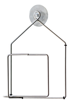 Outdoor - Garden ornaments & Accessories - Tipiou Bird feeding tray - For window by Pa Design - Metal / House - Steel wire
