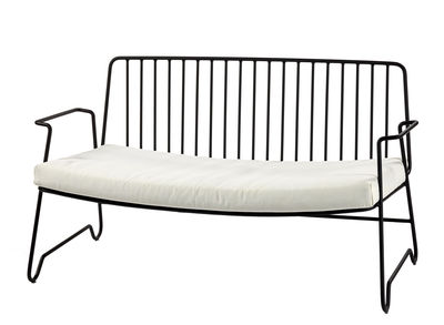 Furniture - Sofas - Fish & Fish 2 seater sofa - / L 131 cm - With seat cushion by Serax - Black - Lacquered aluminium