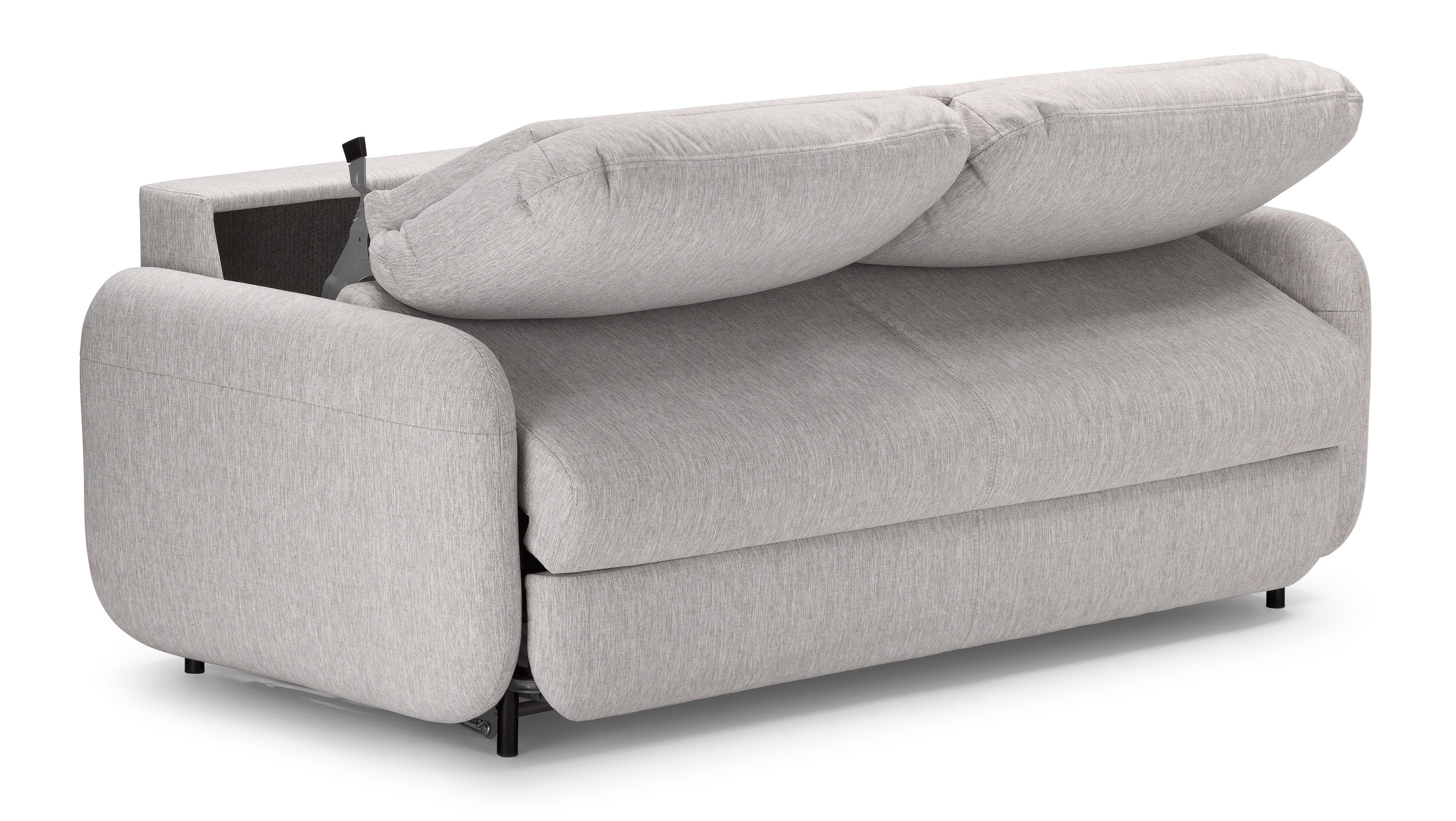 canap convertible fluffy 2 places l 190 cm gris bolia made in design. Black Bedroom Furniture Sets. Home Design Ideas