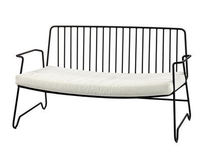 Canapé droit Fish & Fish / L 131 cm - Avec coussin d'assise - Serax blanc,noir en métal