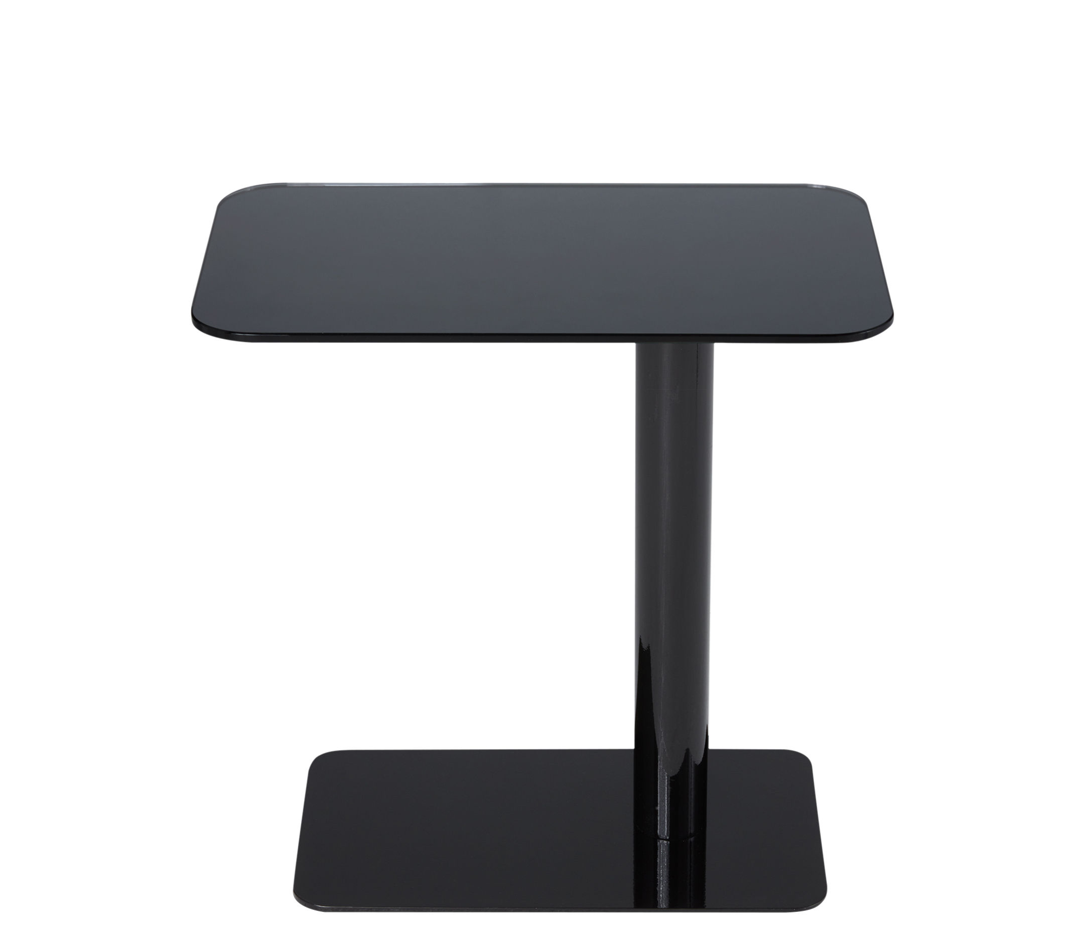Furniture - Coffee Tables - Flash Coffee table - / Glass - 50 x 30 x H 40 cm by Tom Dixon - Black / Black base - Glass, Lacquered steel