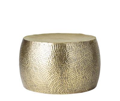 Furniture - Coffee Tables - Hella Coffee table - / Hammered metal - Ø 50 x H 34 cm by Bloomingville - Brass - Metal
