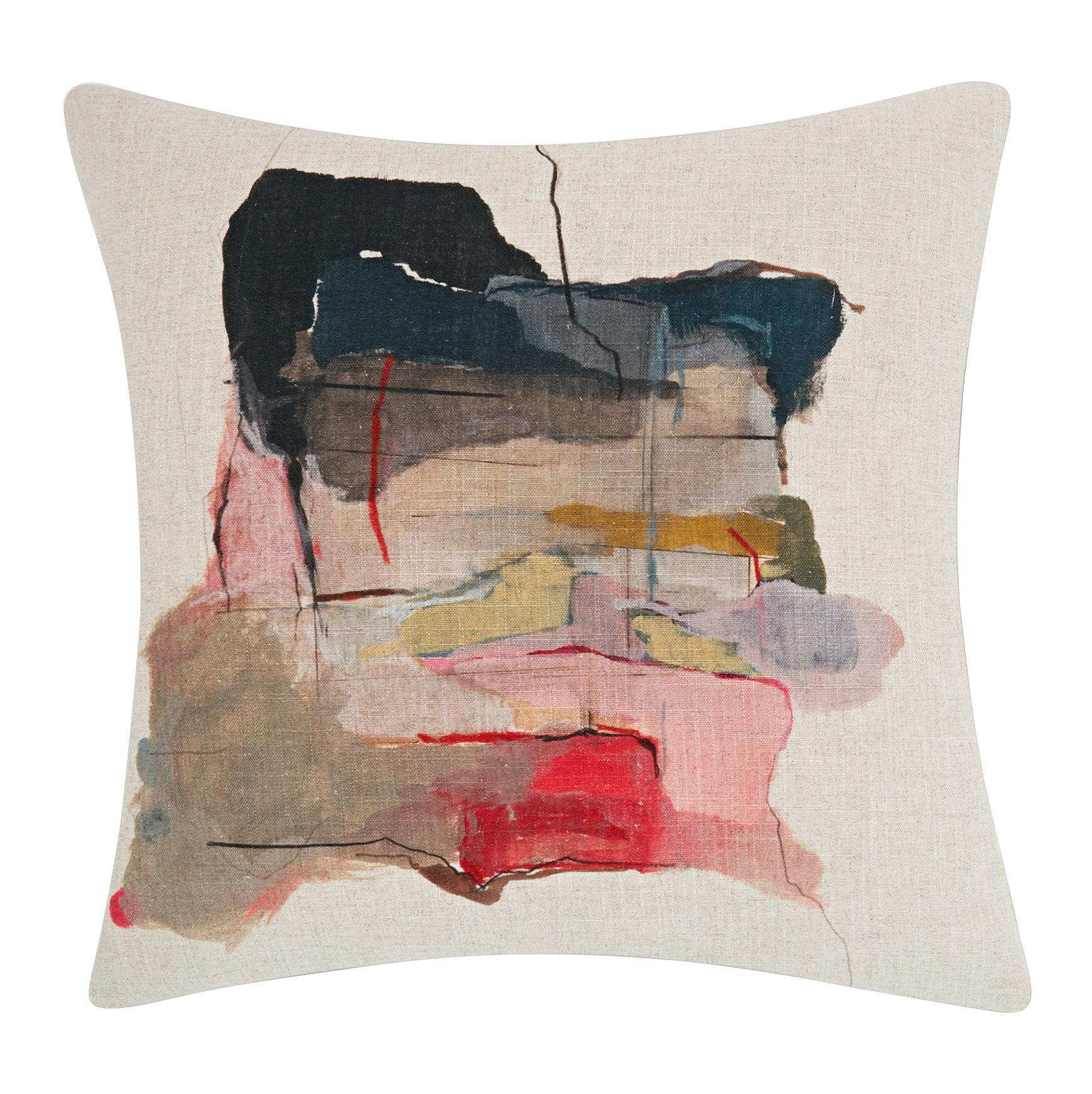 Déco - Coussins - Coussin Paint / 60 × 60 cm - Edition limitée - Tom Dixon - 60 x 60 cm / Rouge & rose - Lin, Viscose