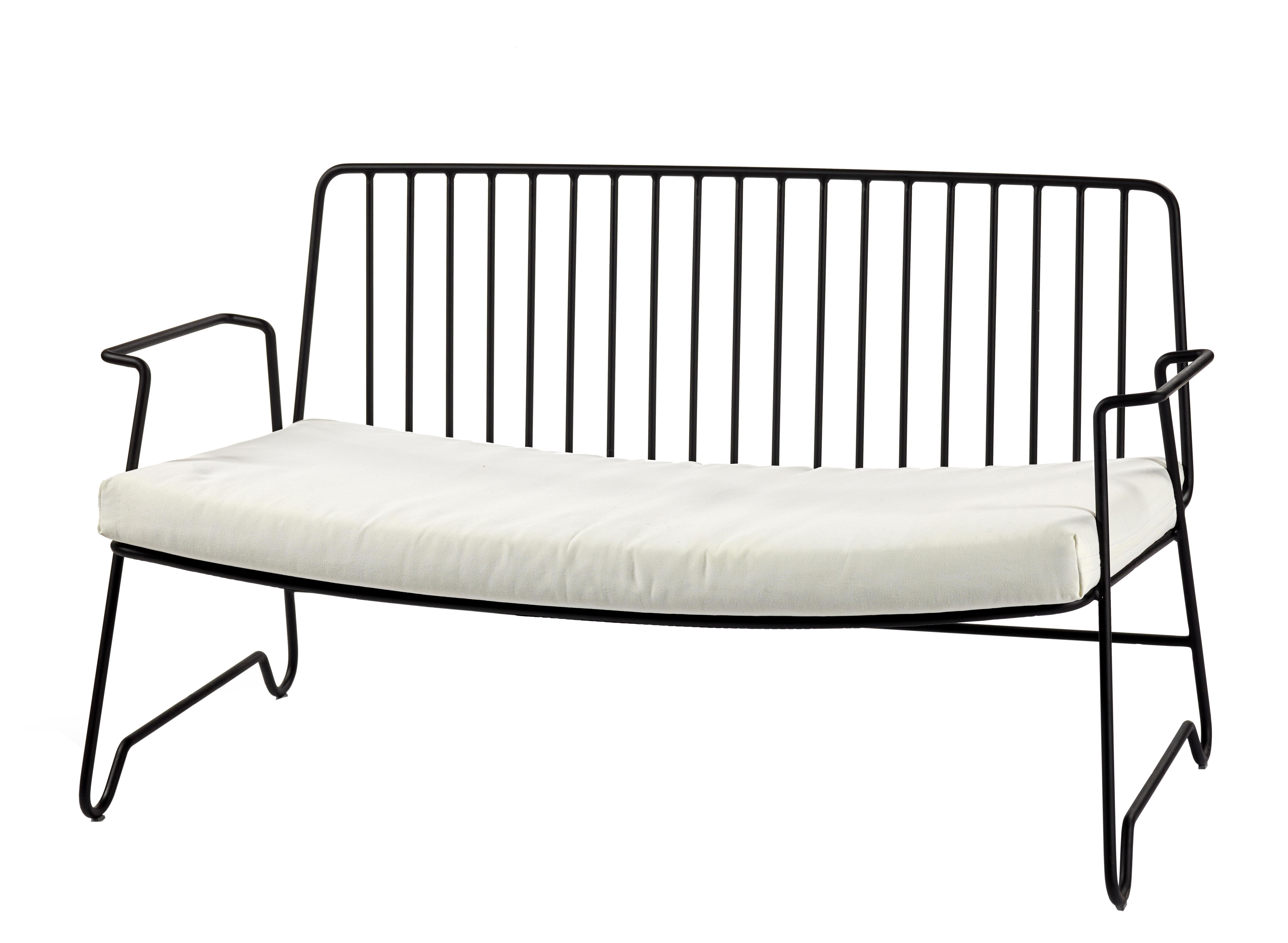 Arredamento - Divani moderni - Divano destro Fish & Fish - / L 131 cm - Con cuscino di seduta di Serax - Nero - Alluminio laccato