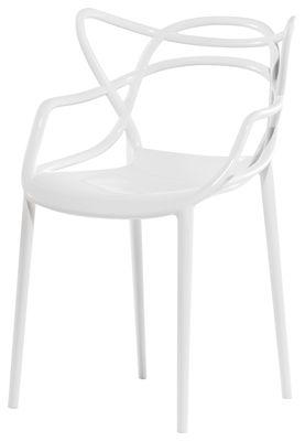 Mobilier - Chaises, fauteuils de salle à manger - Fauteuil empilable Masters / Plastique - Kartell - Blanc - Polypropylène