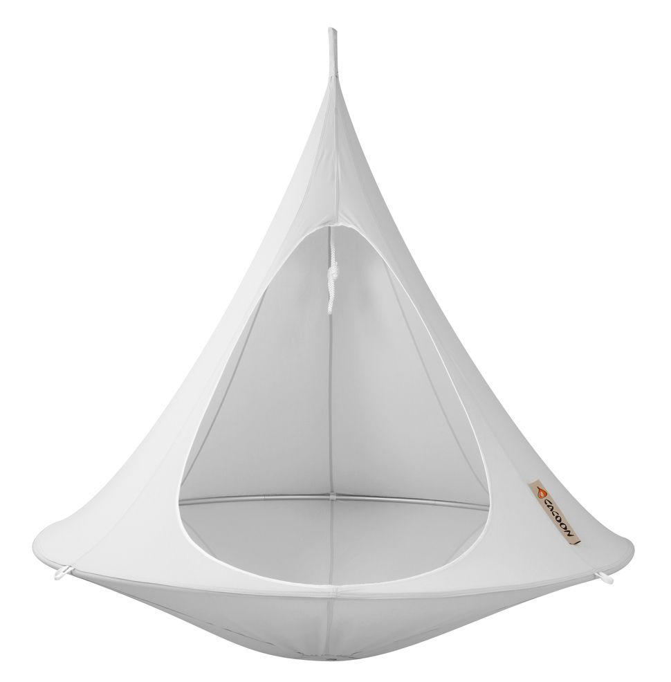 Jardin - Chaises longues et hamacs - Fauteuil suspendu / Tente - Ø 180 cm - 2 personnes - Cacoon - Gris Clair - Toile