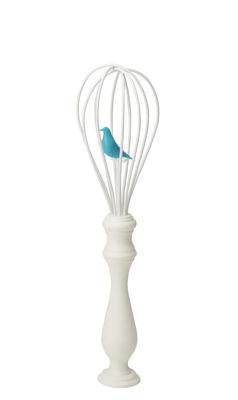 Frusta da cucina Bird Whisk di Pa Design - Bianco,Blu - Metallo